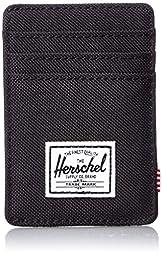 Herschel Supply Co. Men\'s Raven Card Holder With Money Clip, Black, One Size