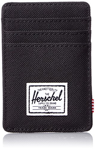 herschel-supply-co-mens-raven-card-holder-with-money-clip-black-one-size
