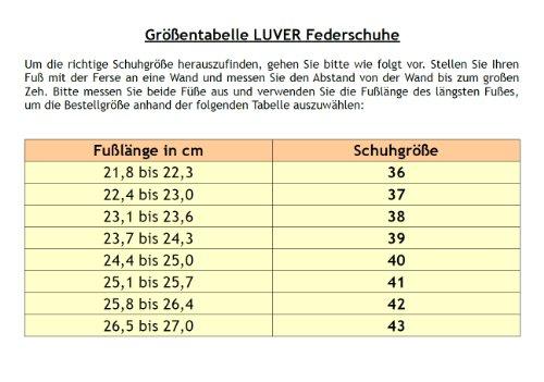 Federschuhe clgjr2103gr Granit – LUVER Sondermodell Federpantoffel xaBA1
