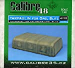 Calibre 48 1:48 Tarpulin for Opel Blitz Resin Detail Set #48008 by Calibre 48