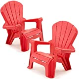 Kids Or Toddlers Plastic Chairs 2 Pack Bundle,Use For Indoor,Outdoor,  Inside Home,The Garden Lawn,Patio,Beach,Bedroom Versatile And Comfortable  Back Support ...