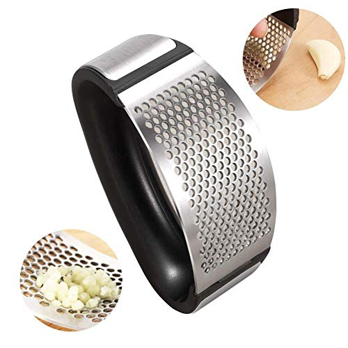 Garlic Press Rocker Stainless Steel Ginger Crusher Squeezer Mincer Chopper Kitchen