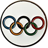 #5: Olympic Rings Golf Ball Marker & Gold Hat Clip