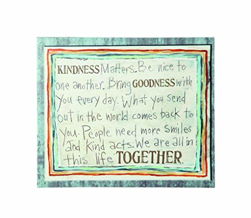 Creative Co Op Canvas Kindness Decor