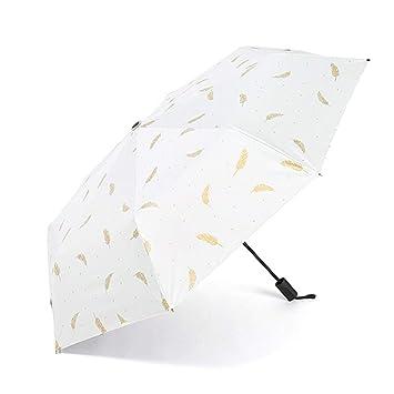 zhenfa Protector Solar Creativa sombrilla Paraguas Paraguas de plástico Negro por ciento Sol sombrilla Anti-