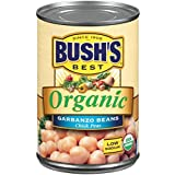 BUSH'S BEST Organic Garbanzo Beans Canned Beans, Organic Chick Peas, USDA Certified Organic, Source of Plant Based…