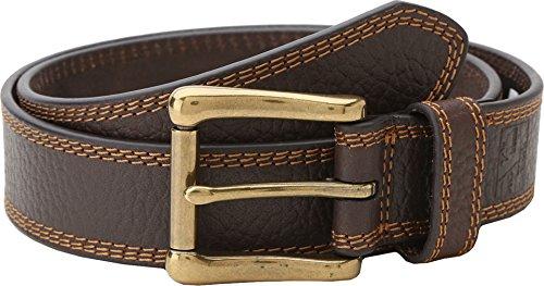 Nocona Belt Co. Men's Work Brown Triple Stitch, 38 (Nocona Brown Belt)