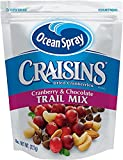 Ocean Spray Craisins Cranberry and Chocolate Trail Mix, 8 Ounce