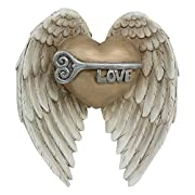 Young's Love Angel Wings Resin Wall Art Sign Plaque, 5.75  x 2  x 6
