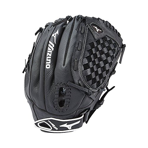 Mizuno Prospect Fastpitch Softball GPL1200F2 Utility 312589 Gloves, Size 12, Youth, Black