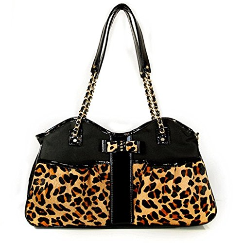Petote Leopard Metro Couture Designer Dog Purse - Small by Petote