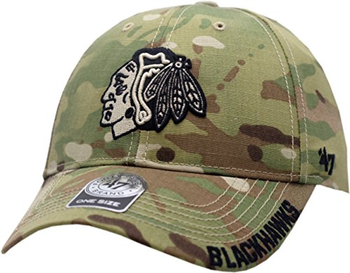 NHL Chicago Blackhawks Myers MVP Adjustable Hat, One Size, Multicam - Brands Womens Myer