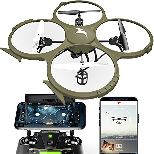 Kolibri Delta Recon Hd Camera Drone With Fpv App Video Stream 2 Batteries For Longer Flight Time  Altitude Hold  Headless Mode  Auto Take Off   Landing  Quadcopter For Beginners Model U818a Wifi