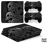 AmorFati PS4 PRO Playstation 4 PRO Console Skin Decal Sticker Skulls + 2 Controller Skins Set