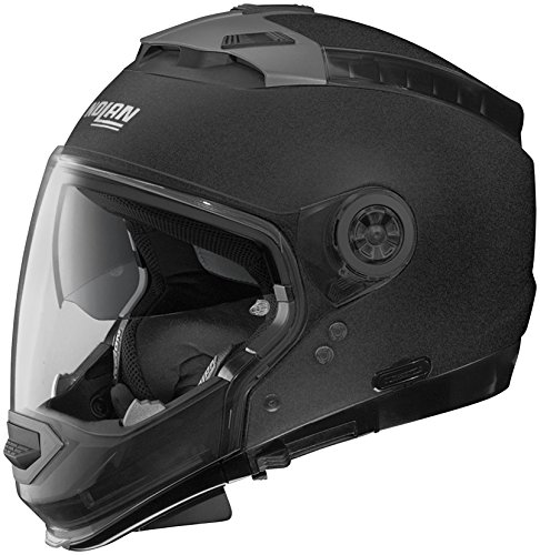 Nolan N-44 N-Com Solid Helmet, Distinct Name: Black Graphite, Gender: Mens/Unisex, Helmet Category: Street, Helmet Type: Modular Helmets, Primary Color: Black, Size: XS N445270330147