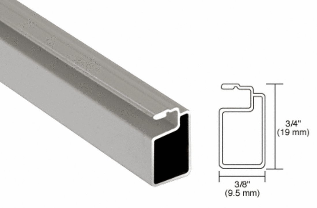 CRL Gray 3/4'' x 3/8'' Extruded Screen Frame