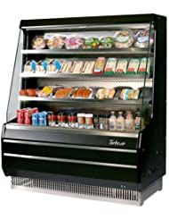 Turbo Air TOM40MB 39 Medium Display Merchandiser with Efficient Refrigeration System Attractive Glass Sides Anti-Rust Coating Back-Guard and Fluorescent Lighting: