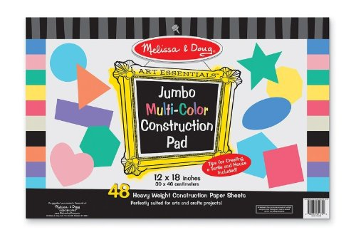 Board Paper Poster (Melissa & Doug Poster Board Pack 6 Sheets 4 Colors, 1 EA)