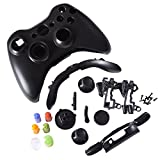 Black Replacement Kit Xbox 360 Controller Shell + Button Parts