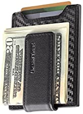 Secure, Slim Carbon Fiber Money Clip Wallet, RFID EDC Card Holder by Urban Tribe