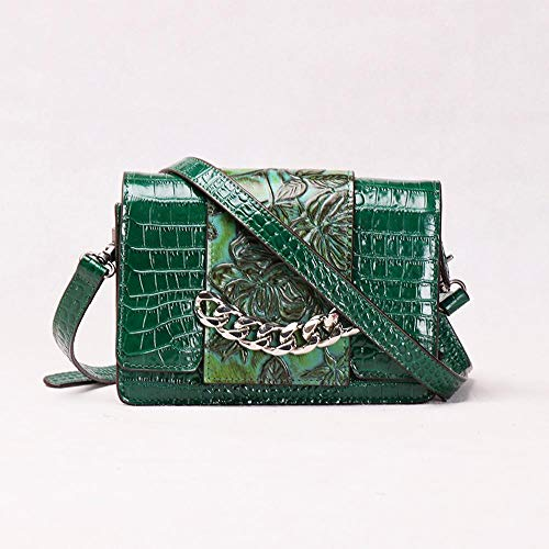 Leather Baotan Female Small Side C Crocodile Cowhide Bag Hongge Retro Lady Shoulder Pattern 4dqwXdIx