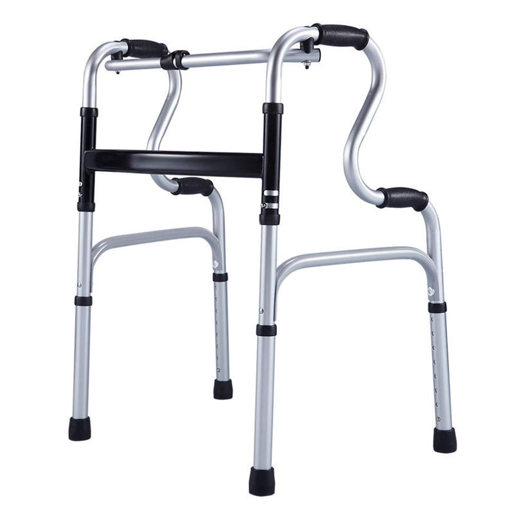 Qivor Plegable Walker Ancianos Walker Aluminio de Doble Uso ...