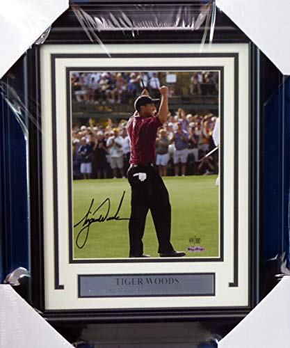 Tiger Woods Autographed Framed 8x10 Photo 2002 Masters LE #/100 UDA Holo Stock #151421