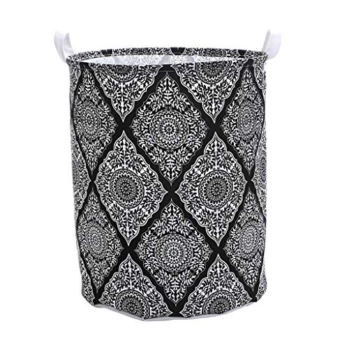 Fan-Ling 1PCS Waterproof Sheets Laundry Clothes Laundry Basket,Storage Basket Folding Storage,Dirty Clothes, Toys, Garbage Storage Basket, Storage Bucket, Big Capacity (Black) (Sorting Laundry Rack)
