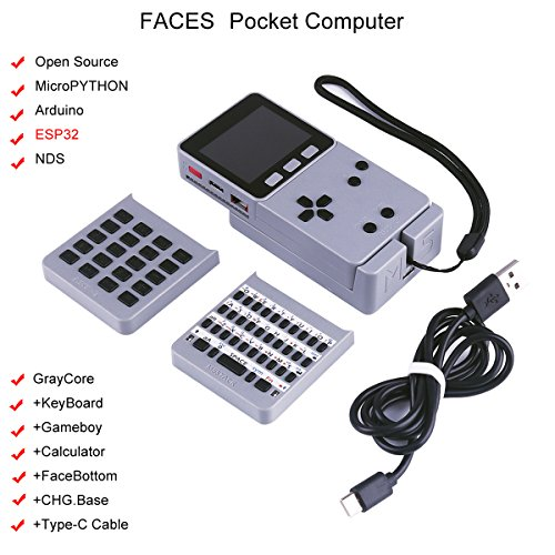 Gps Card Pocket Pc (MakerFocus ESP32 Open Source Faces Pocket Computer with Keyboard/Gameboy/Calculator M5Stack Board Built-in 650mAh Battery for MicroPYTHON Arduino)