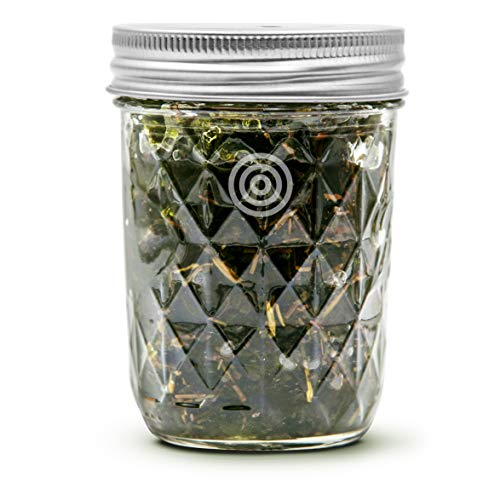 VIOIS, Rosemary & Mint Aromatherapy Car Air Freshener(Gel Type). Natural Air Freshener for Car, Bedroom, Bathroom & Office. Chemical Free & Non Toxic. Ball Mason 8 Ounce (225g) ()