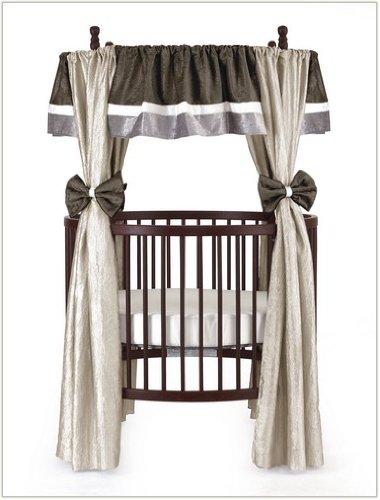 Baby Doll Bedding Crocodile Round Crib Curtain Set, Olive, 12 Piece by BabyDoll Bedding   B00J8ENQDC
