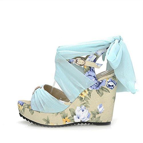 femme 1TO9 Sandales pour 1TO9 pour femme Sandales Bleu 64w6qYr