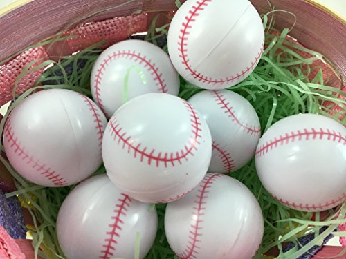 Easter Decorations Fillable Eggs - Set of 6 Sports Eggs (Baseball Eggs) -