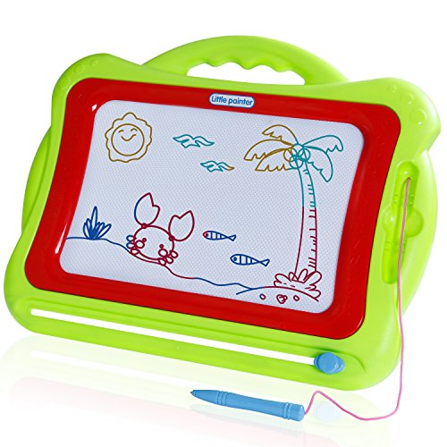 Day Erasable - SGILE Large Magnetic Drawing Board for Toddler Kids Preschooler, 16.5X13.2  Erasable Non-Toxic Magna Doodle Drawing Sketching Pad Tablet for Writing Painting Drawing Learning Development, Green