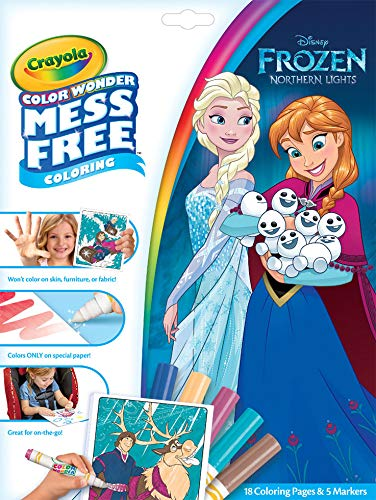 Marker Book - Crayola Color Wonder Frozen Coloring Book & Markers, Mess Free Coloring, Gift for Kids, Age 3, 4, 5, 6
