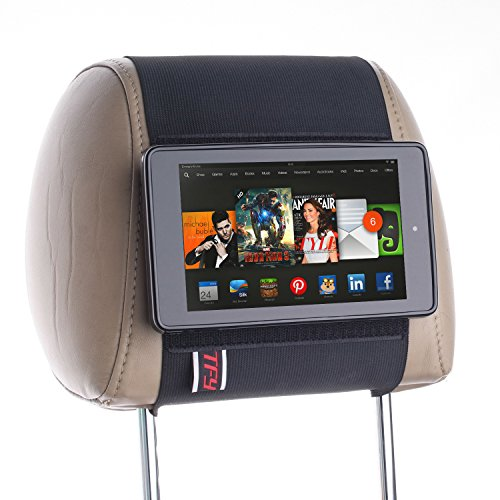 TFY Car Headrest Mount Holder for Kindle Fire HD 6 , 2014 Edition , Fast-Attach Fast-Release Edition, Black
