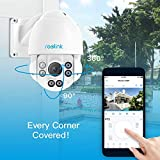 Reolink PTZ Security Camera PoE 5MP Super HD Pan Tilt 4X Optical Zoom Dome Outdoor Indoor RLC-423