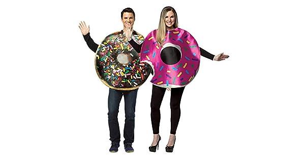 Amazon.com: Juego de disfraces de pareja de donas, chocolate ...