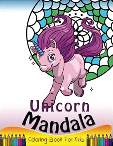 Unicorn Mandala Coloring Book For Kids Simple Patterns To