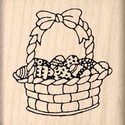 Stamps by Impression Easter Basket Rubber Stamp (Basket Rubber Stamp)