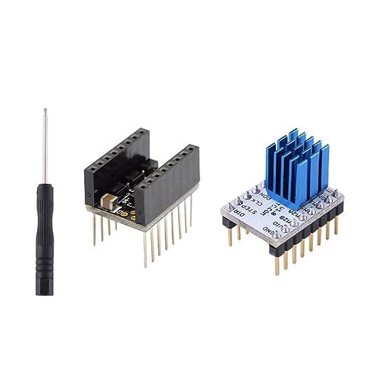 5Pcs TMC2208 1.0 Stepper Motor Driver Module/&Heat Sink for 3D Printer