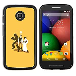 LECELL--Funda protectora / Cubierta / Piel For Motorola Moto E -- Mono del bebé Funny Marriage Cheating --