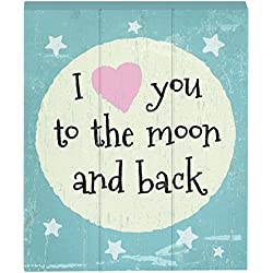 "PRINZ ""I Love You to The Moon and Back Wood Box Sign"