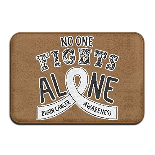 Youbah-01 Indoor/Outdoor Doormat With Brain Cancer Awareness Ribbon Graphic Pattern For Kitchen (Awareness Ribbon Graphic)