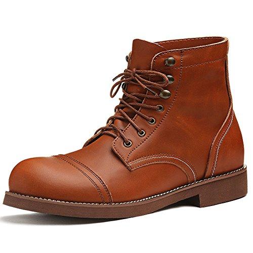 Martin Leather Joker Giallo Retro Boots Mens Shoes Work raqnprzxFv