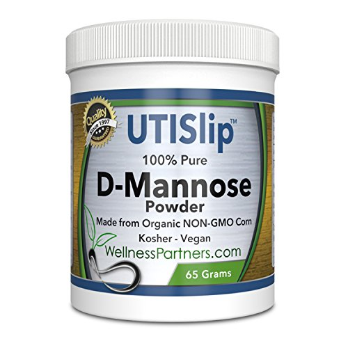 Now new UTI-Slip D Mannose Non GMO Organic Source Powder 65g jar