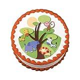 Little Safari Jungle Animals Edible Image Cake Decoration Topper