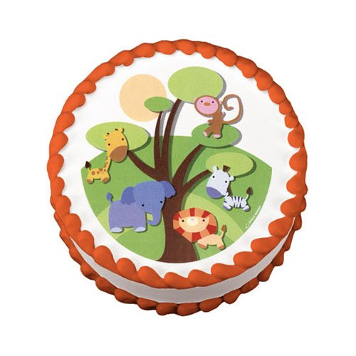 Little Safari Jungle Animals Edible Image Cake Decoration Topper Amazon Grocery Gourmet Food