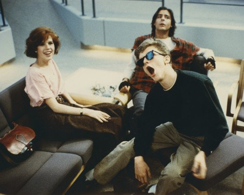 Molly Ringwald and Judd Nelson and Anthony Michael Hall in The Breakfast Club goofing 8×10 Promotional Photograph