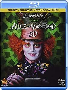 Alice In Wonderland (Four-Disc Combo: Blu-ray 3D / Blu-ray / DVD / Digital Copy)